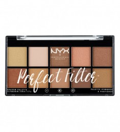 NYX PROFESSIONAL MAKEUP Палетка теней Perfect Filter Shadow Palette - Golden Hour 01