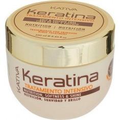 Kativa Keratina интенсивный восстанавление уход с кератином для поврежденных и хрупких волос 250мл
