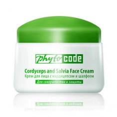 Крем c кордицепсом и шалфеем для лица, 50 г (tianDe)