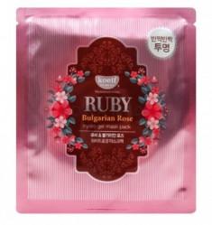 "Маска гидрогелевая ""рубин и масло розы"" KOELF Hydro gel mask pack jewel series ruby & bulgarian rose 30г"