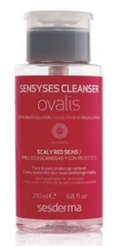 Липосомальный лосьон для снятия макияжа для кожи склонной к покраснению и шелушению SESDERMA Sensyses cleanser ovalis 200 мл