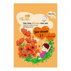 Маска тканевая с пчелиным ядом Mijin Care Daily Dewy Bee Venom Mask Pack 25гр