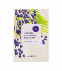 Маска тканевая с экстрактом ягод асаи THE SAEM Natural Acai Berry Mask Sheet 21мл