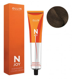OLLIN PROFESSIONAL 7/77 крем-краска перманентная для волос, русый интенсивно-коричневый / N-JOY 100 мл