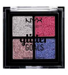 NYX PROFESSIONAL MAKEUP Палетка кремовых глиттеров Glitter Goals  Cream Quad Palette - Love On Top 02