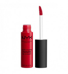NYX PROFESSIONAL MAKEUP Матовая жидкая помада Soft Matte Metallic Lip Cream - Monte Carlo 01