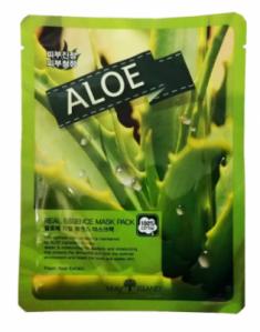 Маска тканевая с алоэ May Island Real Essence Aloe Mask Pack 25мл