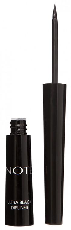 NOTE COSMETICS Подводка насыщенного черного цвета для глаз / ULTRA BLACK DIPLINER 4,5 мл