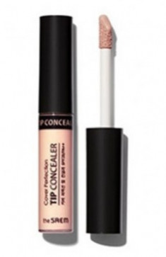 Консилер для маскировки недостатков Cover Perfection Tip Concealer Peach Beige 6,5г The Saem