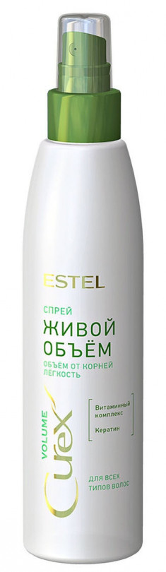 ESTEL PROFESSIONAL Спрей для всех типов волос Живой объем / CUREX VOLUME 200 мл