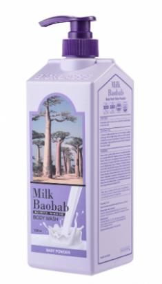 Гель для душа с ароматом детской присыпки Milk Baobab Original Body Wash Baby Powder 1000мл