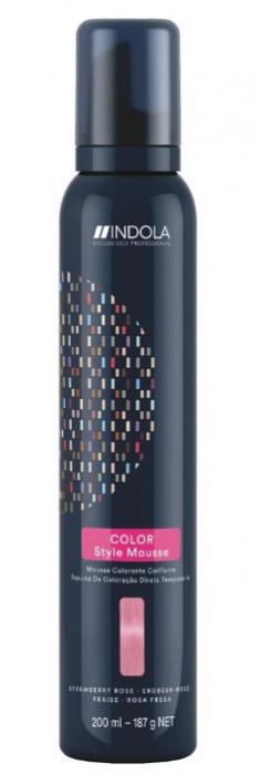 INDOLA Мусс оттеночный для укладки волос, клубничная роза / Color Style Mousse 200 мл