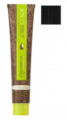 Краска для волос Macadamia Oil Cream Color 1 ЧЕРНЫЙ 100мл