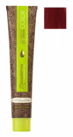 Краска для волос Macadamia Oil Cream Color 5.666 ЭКСТРА-ЯРКИЙ КРАСНЫЙ СВЕТЛО КАШТАНОВЫЙ 100мл