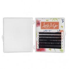 Lash&Go, Ресницы «Омбре» на ленте 0,07/8-13 мм, D-изгиб, фиолетовые