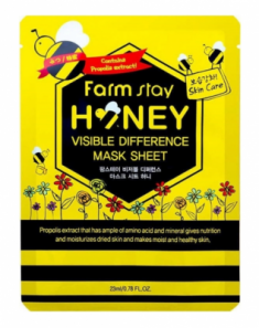 Маска с экстрактом мёда FarmStay Visible Difference Mask Sheet Honey 23мл