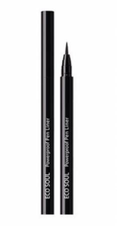 Подводка для глаз THE SAEM Eco Soul Powerproof Pen Liner 01 Black 6г